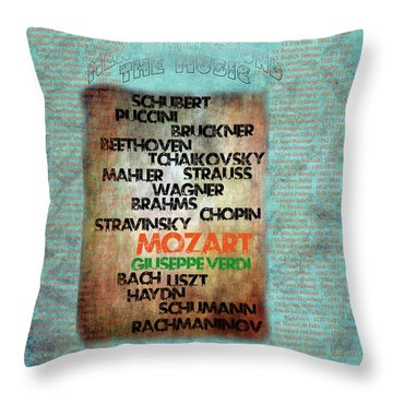 Throw Pillow featuring the digital art Men Who Found The Music by Gunter Nezhoda