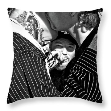 Menage A Trois Throw Pillow by Kathleen K Parker