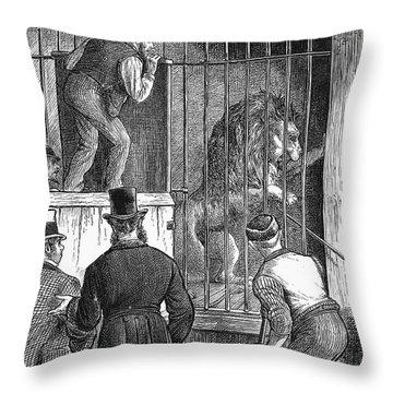 Menagerie Sale, 1872 Throw Pillow