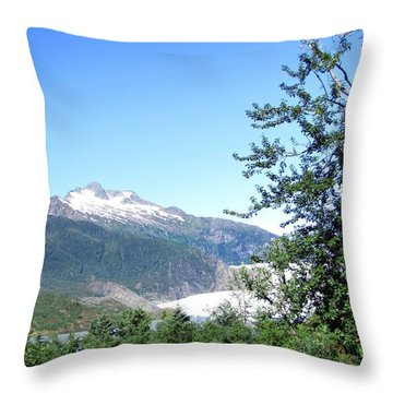 Throw Pillow featuring the photograph Mendenhall Glacier by Jennifer Wheatley Wolf