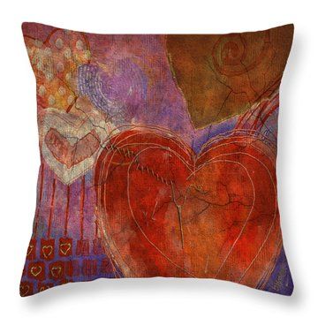 Throw Pillow featuring the digital art Mending A Broken Heart by Arline Wagner