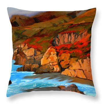 Mendocino Coast Throw Pillow