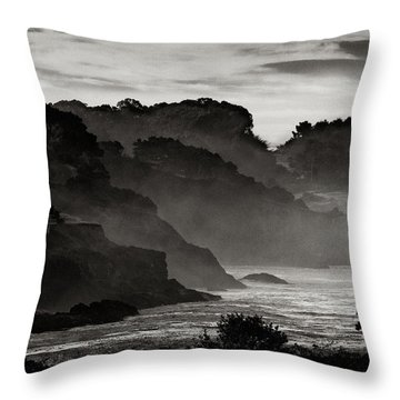 Mendocino Coastline Throw Pillow