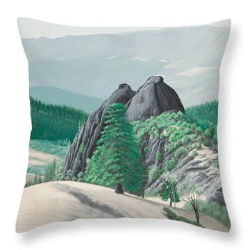 Mendocino Knockers Throw Pillow
