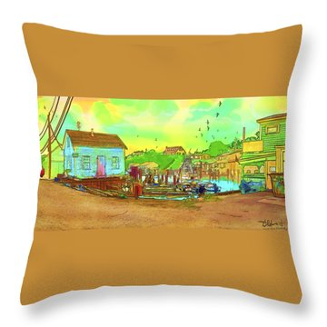 Menemsha Harbor Throw Pillow by Gerry Robins