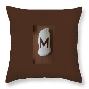 Menominee Maroons Throw Pillow by Jonathon Hansen