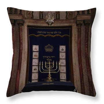 Menora Throw Pillow