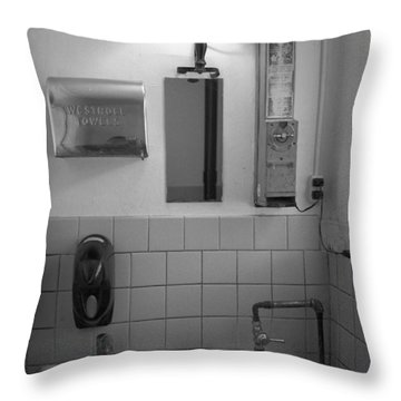 Mens Room Throw Pillow