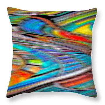 Mental Bets Throw Pillow by Gwyn Newcombe