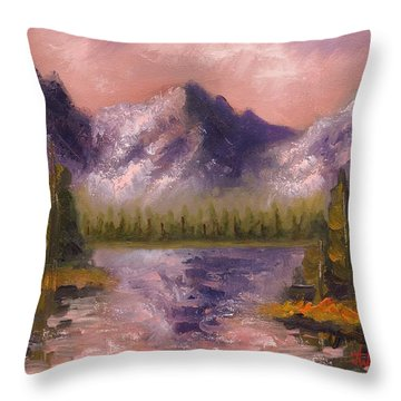 Throw Pillow featuring the painting Mental Mountain by Jason Williamson