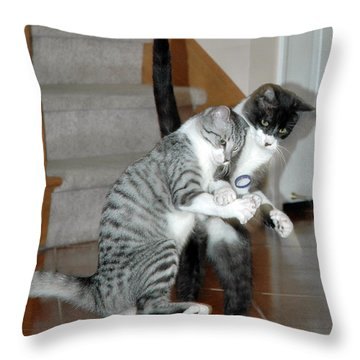 Meow Vows Throw Pillow