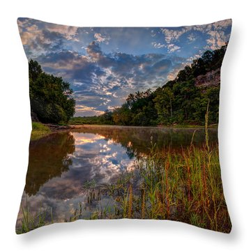 Meramec River  Throw Pillow