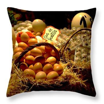 Throw Pillow featuring the photograph Mercat De La Boqueria by Lisa Phillips