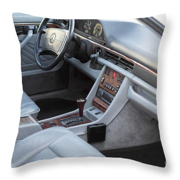 Mercedes 560 Sec Interior Throw Pillow by Gunter Nezhoda