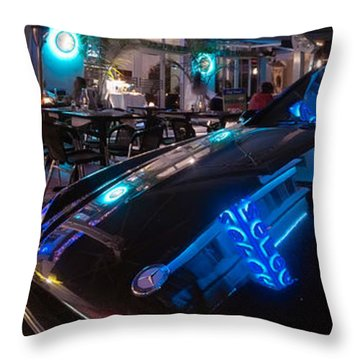 Mercedes At The Colony Throw Pillow by Gary Dean Mercer Clark
