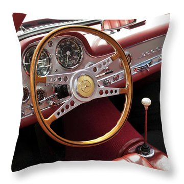 Mercedes Benz Gullwing 1956 Throw Pillow by Maj Seda