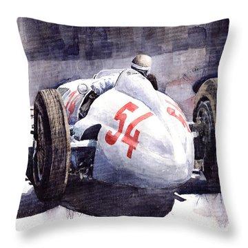 Mercedes Benz W 154 1938 M Von Brauchisch Throw Pillow