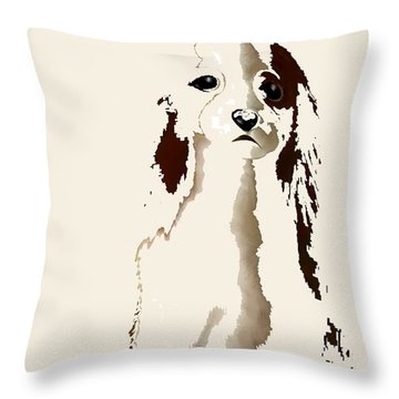 Mercedes  - Our Cavalier King Charles Spaniel  No. 9 Throw Pillow