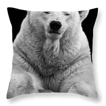 Mercedes The Polar Bear Throw Pillow