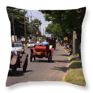 Mercers On Parade Throw Pillow by Mustafa Abdullah