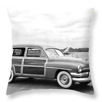 Mercury Woody Station Wagon Throw Pillow