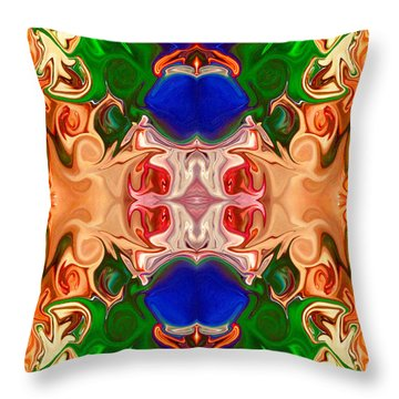 Throw Pillow featuring the digital art Merging Consciousness With Abstract Artwork By Omaste Witkowski  by Omaste Witkowski