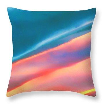 Merging Throw Pillow by Menega Sabidussi