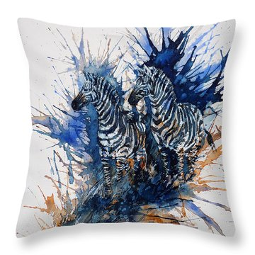 Merging With Shadows Throw Pillow by Zaira Dzhaubaeva