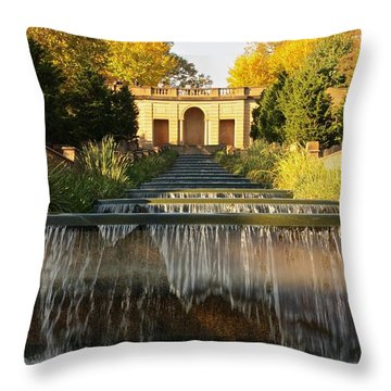 Meridian Hill Park Waterfall Throw Pillow by Stuart Litoff