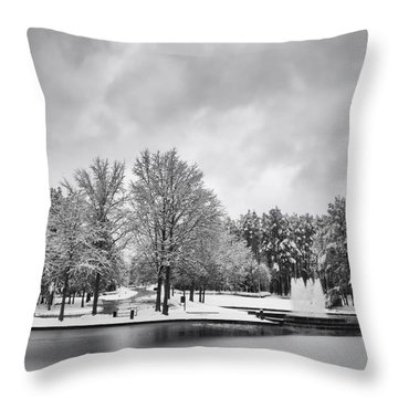 Meridian Parkway Winter Throw Pillow