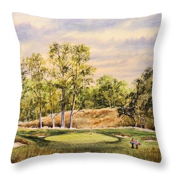 Merion Golf Club Throw Pillow by Bill Holkham
