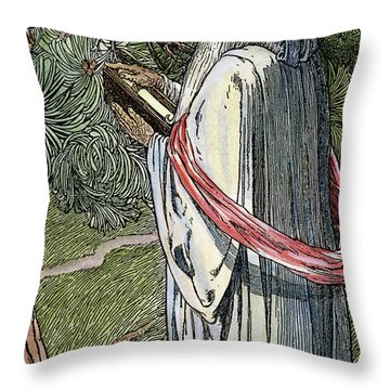 Merlin The Magician, 1923 Throw Pillow by Granger