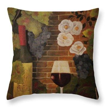 Merlot For The Love Of Wine Throw Pillow by John Stuart Webbstock