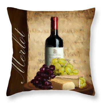 Merlot IIi Throw Pillow