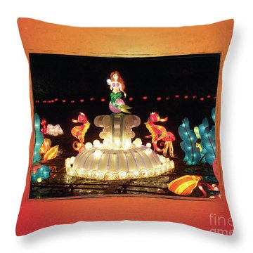 Mermaid Throw Pillow by Cheryl McClure