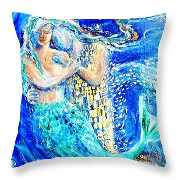 Mermaid Dreamer  Throw Pillow by Trudi Doyle