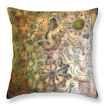Mermaid Goddess By Alfredo Garcia Throw Pillow