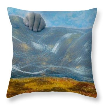 Mermaid Throw Pillow by Lesley Fletcher