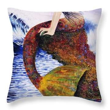 Mermaid Love Throw Pillow
