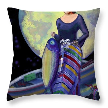 Mermaid Mother Throw Pillow