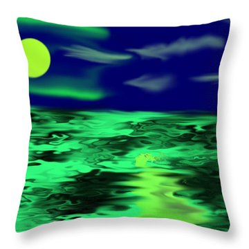 Mermaid Night Throw Pillow