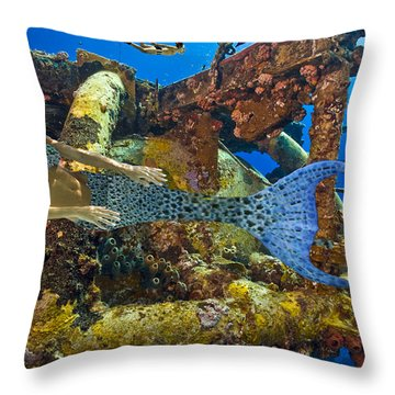 Mermaid Oblivion Throw Pillow