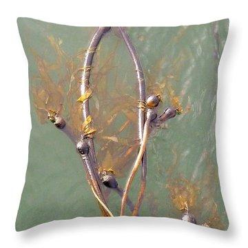 Mermaid Seaweed Throw Pillow by Ann Michelle Swadener