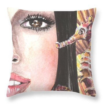Mermaid Secrets Throw Pillow