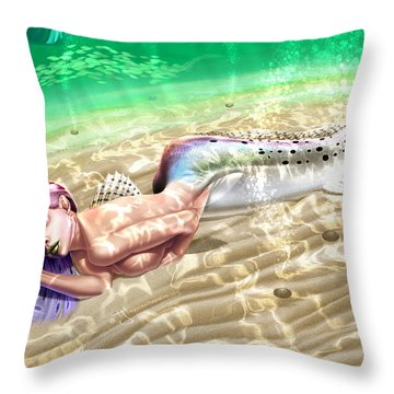 Mermaid - Speckled Trout Throw Pillow