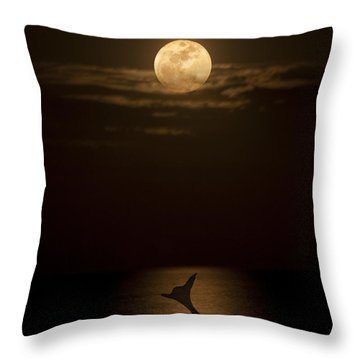 Mermaid's Moonsong Throw Pillow