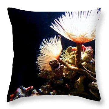 Mermaid's Playground Throw Pillow