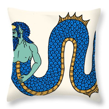 Merman Throw Pillow by Science Source