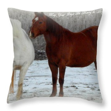 Merry And Bright Wishes Throw Pillow