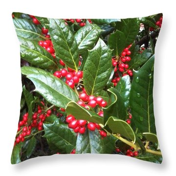 Merry Berries Throw Pillow
